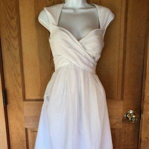 Jessica Simpson, White, Full A-Line Dress, Size 6